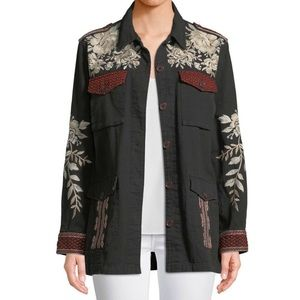 NWT JOHNNY WAS ✨ Surya Embroidered Military Jacket